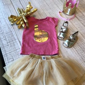 Baby girl turns one outfit!💖☝🏼